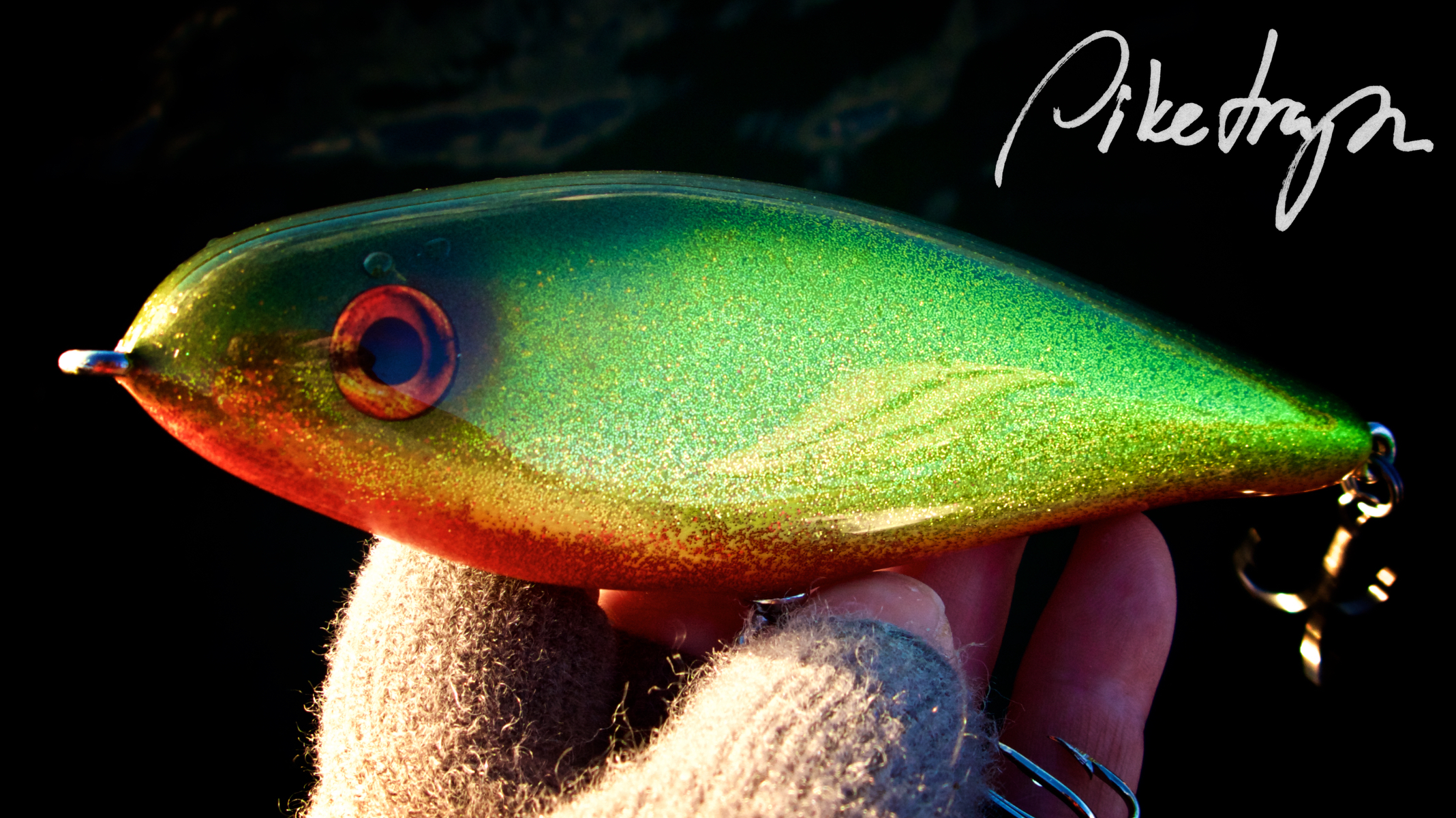 Hand made chartreuse Generic pike bait